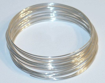 5ft of 26G Sterling Silver round wire Half-Hard