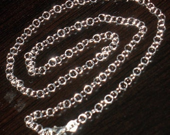 Sterling Silver round link chain with lobster clasp 18 inch