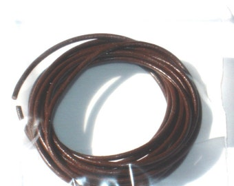 32ft of brown  leather necklace or Bracelet cord 1.00mm