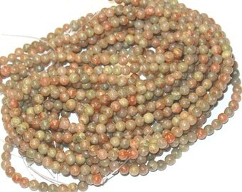 2x 16in strand of Autumn jasper round 4mm