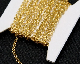 5ft------------ 14K Gold Filled Cable Chain   1.7mm