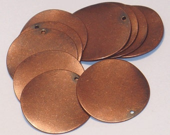 10 pcs of antiqued copper plated wavy disc 26mm