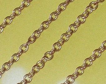 10 ft of copper color soldered cable chain 2.1mm