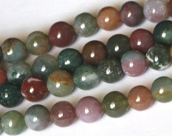 16 inch strand of Fancy Jasper round beads 8mm