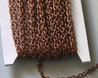 90 ft of Antiqued copper round cable chain 2.6X3.9mm - unsoldered