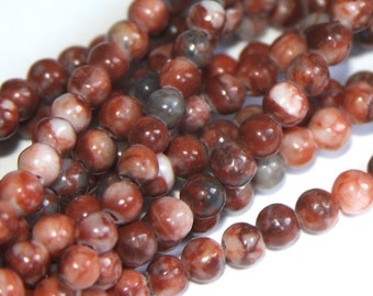 2x16 inches strand of Red Sport Jasper round 4mm
