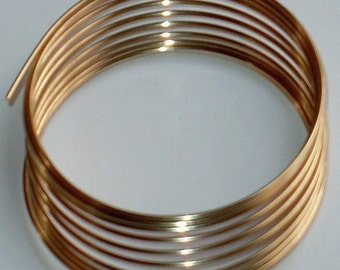 5 ft of 14K Gold filled round wire half hard 22g