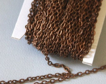 45 ft of Antiqued copper finished texture cable chain 2x3mm - unsoldered
