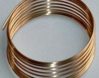 5 ft of 14K Gold filled round wire 24g - Half Hard