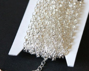 45 ft of Silver plated texture cable chain 5X3mm