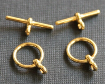 100 sets of Gold plated Toggle clasps