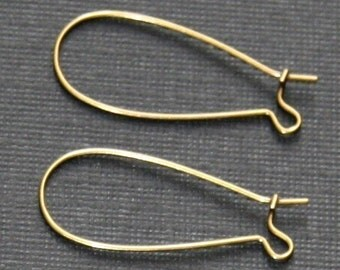 Wholesale --- 1000 pcs of Antiqued brass Kidney earwire  33x14mm