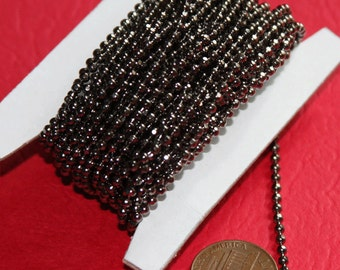 100 ft  spool of high quality Gunmetal faceted ball chain 2.4mm