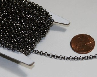 Sale ----- 25ft spool of  Gunmetal Rollo chain 3.2mm  unsolder links