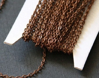 45 ft of Antiqued Copper over iron flat cable chain 2X3mm - unsoldered