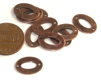 50 pcs of Antique copper Oval links 14x10x0.4mm