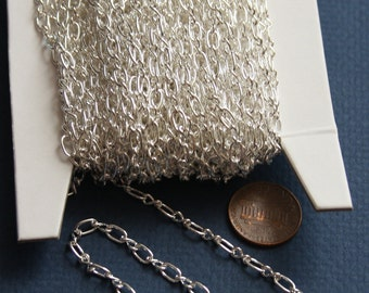 45 ft of Silver Plated figure eight  Chain 3.3x6.6mm - Open Link