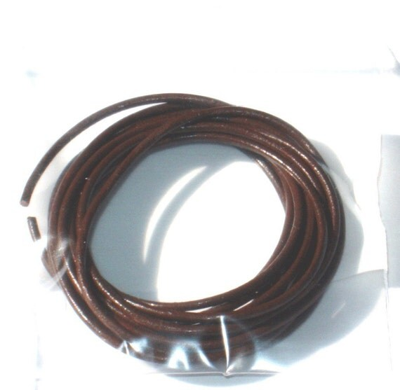 75ft of brown  leather necklace or Bracelet cord 1.00mm