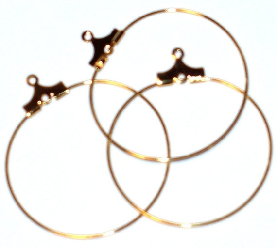 50 pcs of Gold plated brass beading hoop -30mm