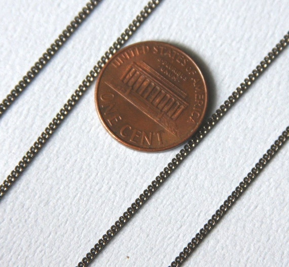 10 ft of Gunmetal tiny curb chain - 1.3mm - Solder links