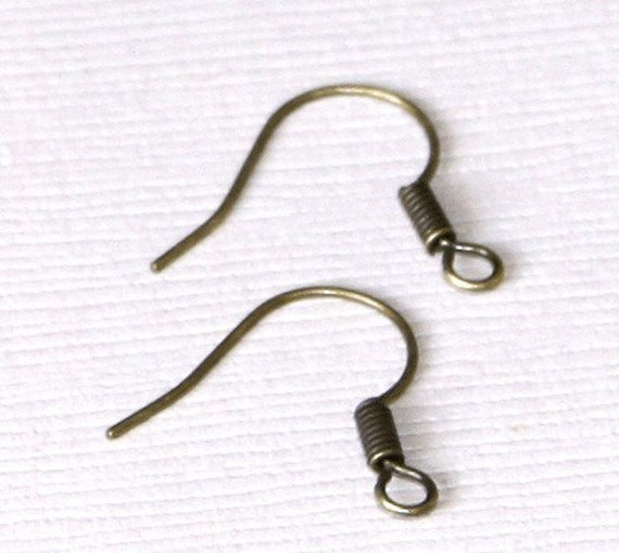 Wholesale   1000 pcs of Antiqued brass fish Hook Earwire 17X15mm