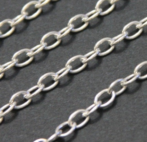 15ft of Silver plated over iron large cable chain 6.5X4mm - unsolder