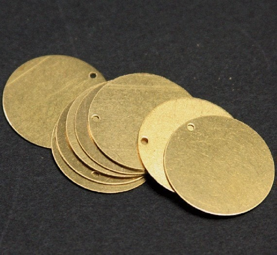 Wholesale --- 50 pcs of  gold plated thin  Brass coin - 26mm