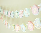 Little Lady Tea Party Happy Birthday Banner