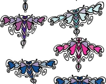Exotic Dragonflies Set of 8 Machine Embroidery Designs  by LetZRocK