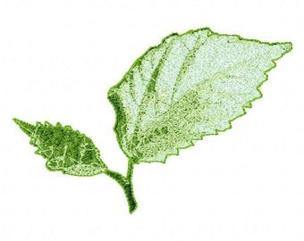 Real Leaves Letzrock Machine Embroidery Designs...2129