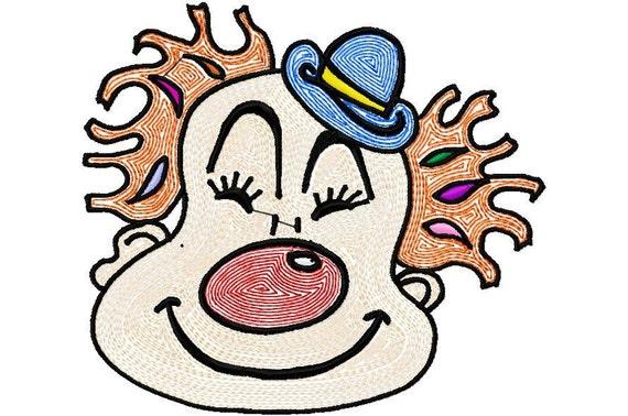 Happy Clown for Mylar Machine Embroidery Design  1733