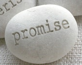 promise - Beach pebble engraved by sjEngraving