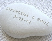 Oathing stone - Custom Engraving for engagement, wedding or anniversary - wedding pebbles by sjEngraving