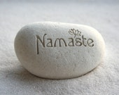 Namaste pebble - engraved beach pebble by sjEngraving