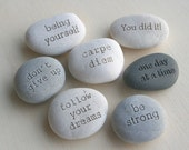 Message stones - Customized engraved gift