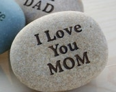 Love YOU - custom engraved rock with you text - home decor - decoration and paperweight stone