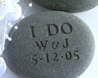 Oathing stone - personalized wedding gift stone for bride groom - anniversary gift
