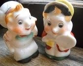 Vintage Kellogg's Salt and Pepper Shakers - Snap and Pop - Japan - Rice Crispies