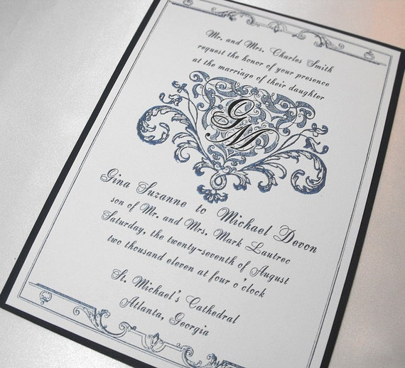royal wedding invitation and rsvp set