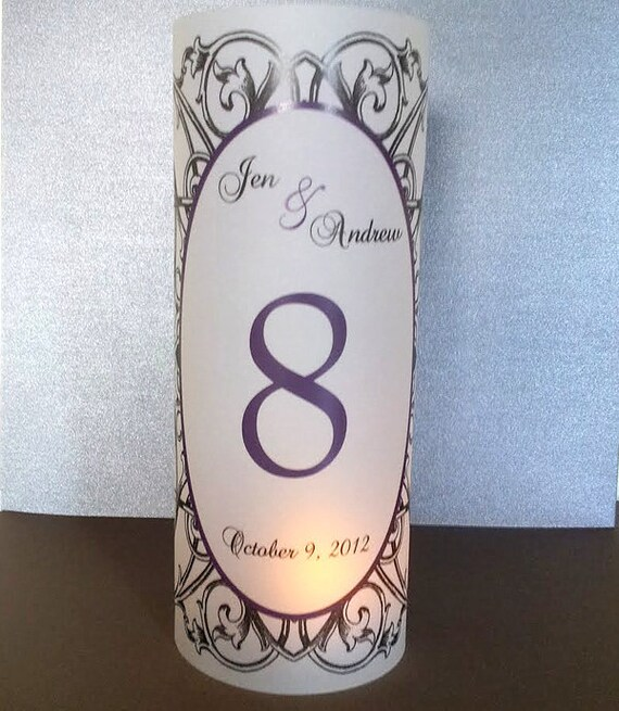 """Vintage Scroll Luminary Candle Surrounds 8.5"""" - Oval Frame Wedding Reception Papers"""