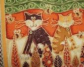 SALE - Cool Cats - Herringbone - Small Handbag