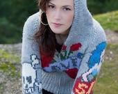 Tattoo Sweater Womens-LOVE