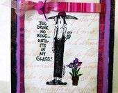 Card Stamped Greeting Card Girl Friend - kitsnbitscraps