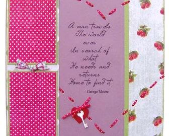Home Scrapbook Page Kit Sweet Home SALE - Kitsnbitscraps