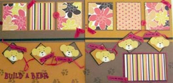 Build A Bear PREMADE Scrapbook Pages Layout - Kitsnbitscraps - PFOP