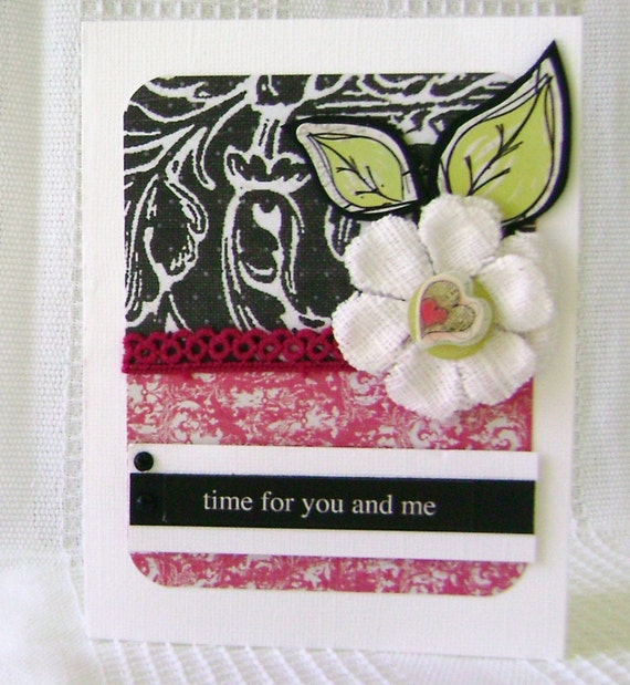 Card Handmade  you and me Greeting with envelope - kitsnbitscraps PFOP