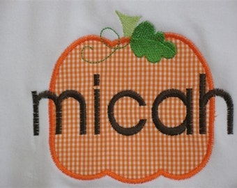 Cute Little Pumpkin Personalized Tee or Bodysuit  -  Long Sleeves - for Him