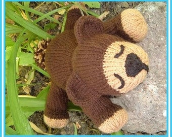 Tyler T. Tucker Teddy a knitted pdf pattern, INSTANT DOWNLOAD, Digital File,