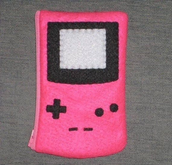 Hot Pink Gameboy Color Pouch for Nintendo DS Lite by janis13