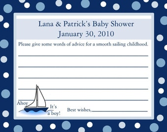 24 Personalized Baby Shower Advice Cards    AHOY IT'S A BOY